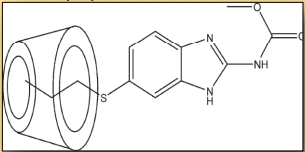 Fig. 4 : Agent anti-cancer ABZ complexé à une bêta-cyclodextrine