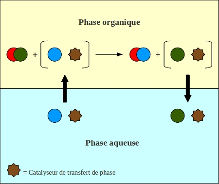 Fig. 5 : Principe de la Catalyse par Transfert de Phase