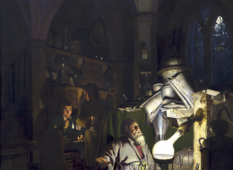 Joseph Wright of Derby: The Alchemist Discovering Phosphorus